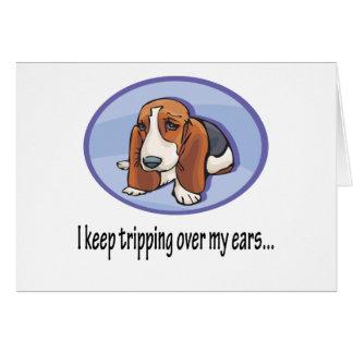 Cute Bassett Hound Pup Card