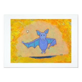 Cute bat art for folks who love bats fun colorful card