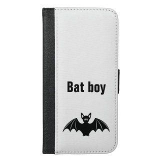 Cute bat cartoon pun joke boys iPhone 6/6s plus wallet case