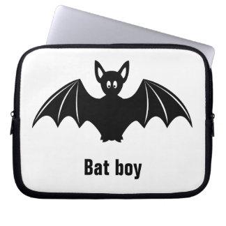 Cute bat cartoon pun joke boys laptop sleeve