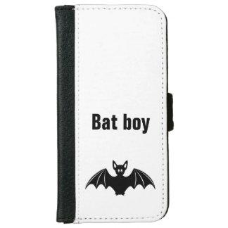 Cute bat cartoon pun joke boys wallet phone case for iPhone 6/6s