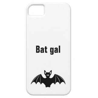 Cute bat cartoon pun joke girls iPhone SE/5/5s case