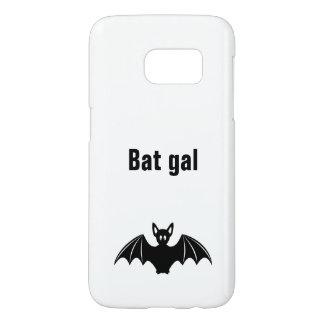 Cute bat cartoon pun joke girls samsung galaxy s7 case