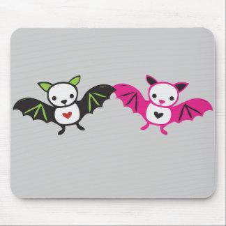 Cute Bat Couple Mouse Pads