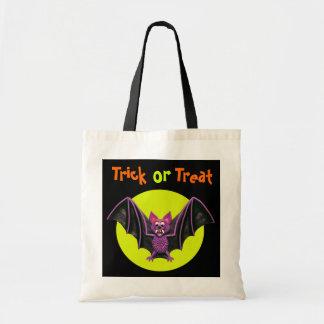 Cute Bat Halloween Party Budget Tote Bag