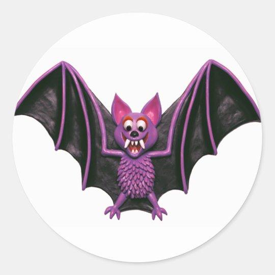 Cute Bat Halloween Party Classic Round Sticker