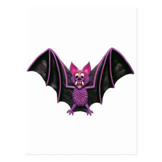 Cute Bat Halloween Party Postcard
