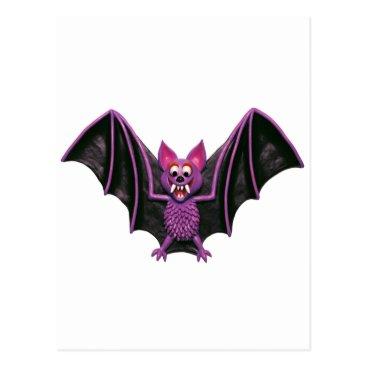 AmyVangsgard Cute Bat Halloween Party Postcard