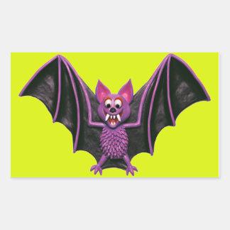 Cute Bat Halloween Party Rectangular Sticker