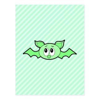 Cute Bat in Green. Postcard