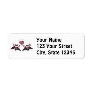 Cute Bat Love Desgin Return Address Label