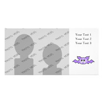 Cute Bat, Purple. Card