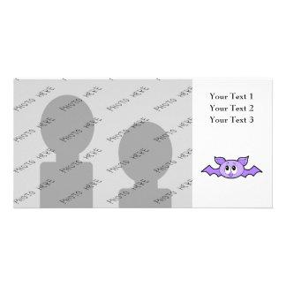 Cute Bat, Purple. Photo Card