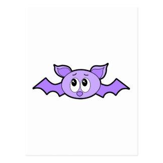 Cute Bat, Purple. Postcard