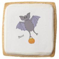 Cute Bat Square Premium Shortbread Cookie