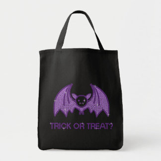 Cute Bat Trick or Treat Grocery Tote Bag