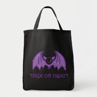 Cute Bat Trick or Treat Tote Bag