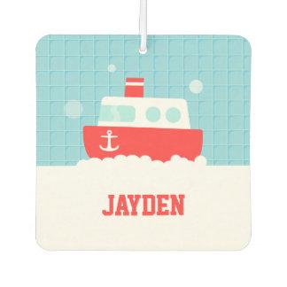 Cute Bath Toy Boat Nautical Boys Room Decor Car Air Freshener