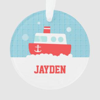 Cute Bath Toy Boat Nautical Boys Room Decor Ornament