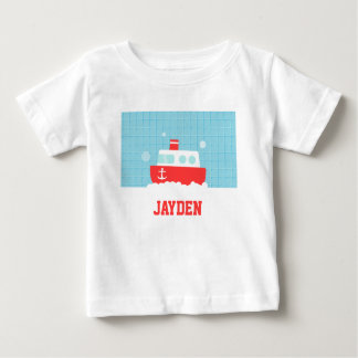 Cute Bath Toy Boat Nautical For Baby Boys Baby T-Shirt