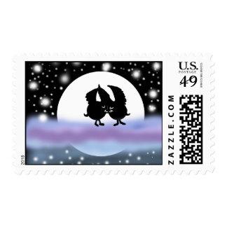Cute bats kissing Postage Design