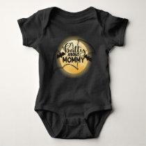 Cute Batty Full Moon Halloween Baby Bodysuit