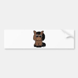 Cute Bay Horse Bumper Sticker