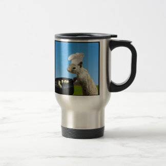Cute BBQing Squirrel 15 Oz Stainless Steel Travel Mug