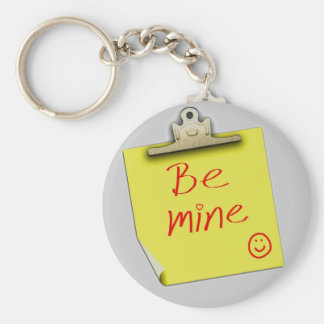 Cute Be Mine Post It Note Keychain