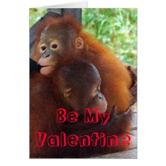Cute Be My Valentine Card
