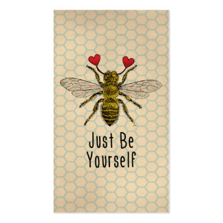 Cute Be Yourself Bee Double-Sided Standard Business Cards (Pack Of 100)