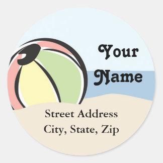 Cute Beach Ball Address Label Sticker