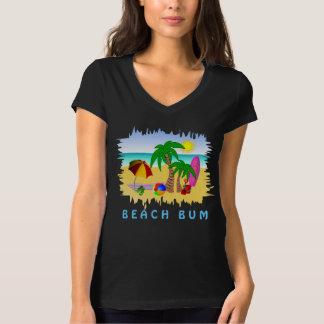 Cute Beach Bum Fun Colorful Womens T-Shirt