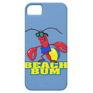 cute beach bum lobster cartoon graphic iPhone 5 cover