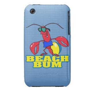 cute beach bum lobster cartoon graphic iPhone 3 cover