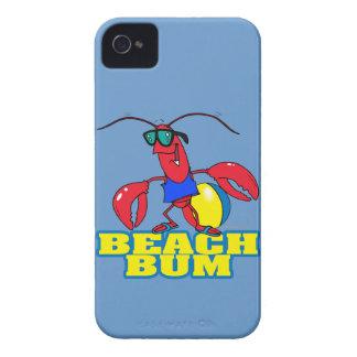 cute beach bum lobster cartoon graphic iPhone 4 cases