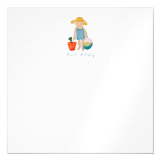 Cute Beach Girl on Summer Holiday Magnetic Card
