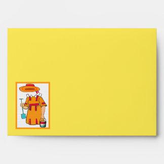 Cute Beach Paper Doll Yellow Envelope