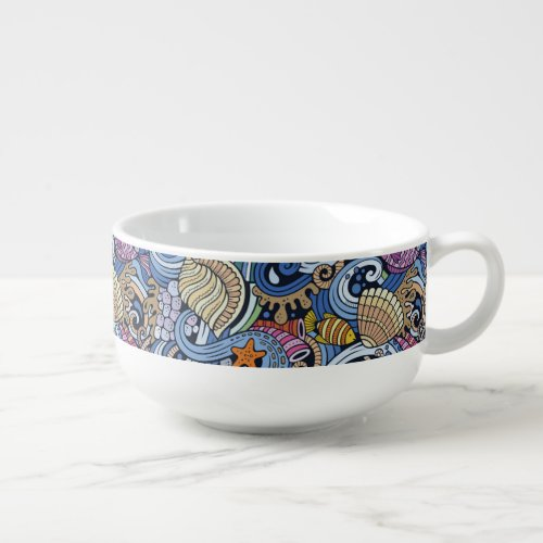 cute Beach pattern dining Soup Mug