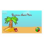 Cute Beach Scene Business Cards