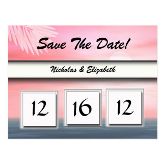 CUTE Beach Theme Save the Date Custom Calandar Postcard