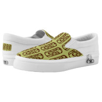Cute Beach tiki green pattern slip on shoe
