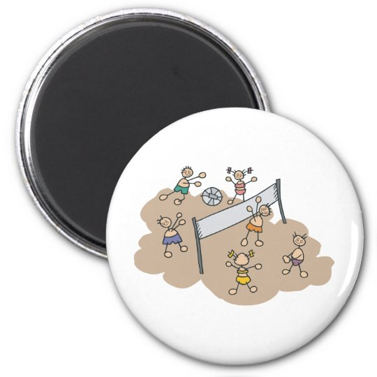 Cute Beach Volleyball Magnet