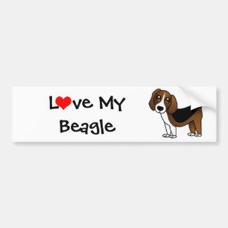 Cute Beagle Cartoon Dog Bumper Sticker