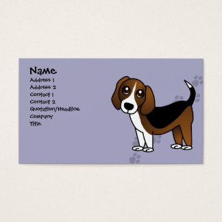 Cute Beagle Cartoon Dog Business Card