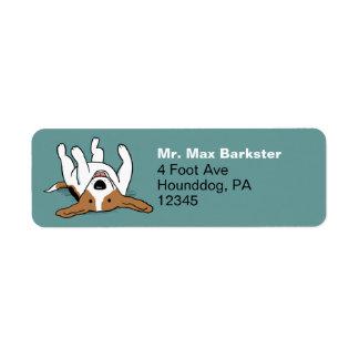 Cute Beagle Cartoon Dog Label