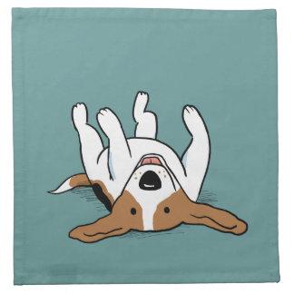 Cute Beagle Cartoon Dog Napkin