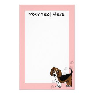 Cute Beagle Cartoon Dog Stationery Design