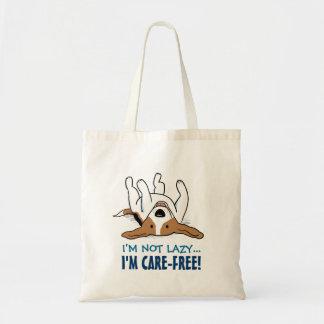 Cute Beagle Cartoon Dog with Custom Text Tote Bag
