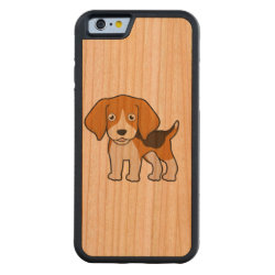 Carved ® iPhone 6 Bumper Wood Case with Beagle Phone Cases design